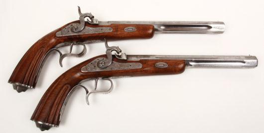 14793 - Paar Perkussionsscheibenpistolen