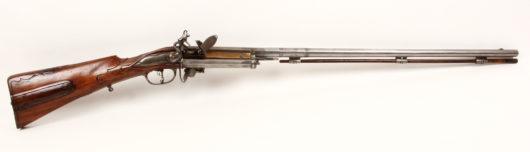 Steinschloss- Revolvergewehr