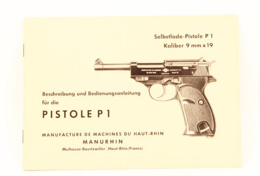 Antiquariat: Selbstlade-Pistole P1 Kaliber 9mm x 19