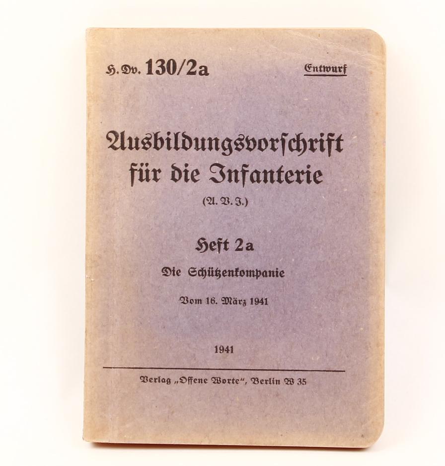 Antiquariat: Ausbildungsvorschrift für die Infanterie