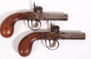 Paar Perkussionstaschenpistolen
