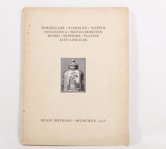 Auktionskatalog Galerie Helbing, München, 1928