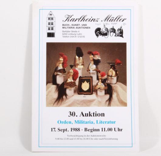 Auktionskatalog Karlheinz Müller 30.Auktion