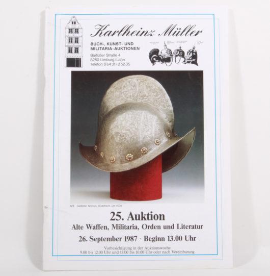 Auktionskatalog Karlheinz Müller 25.Auktion