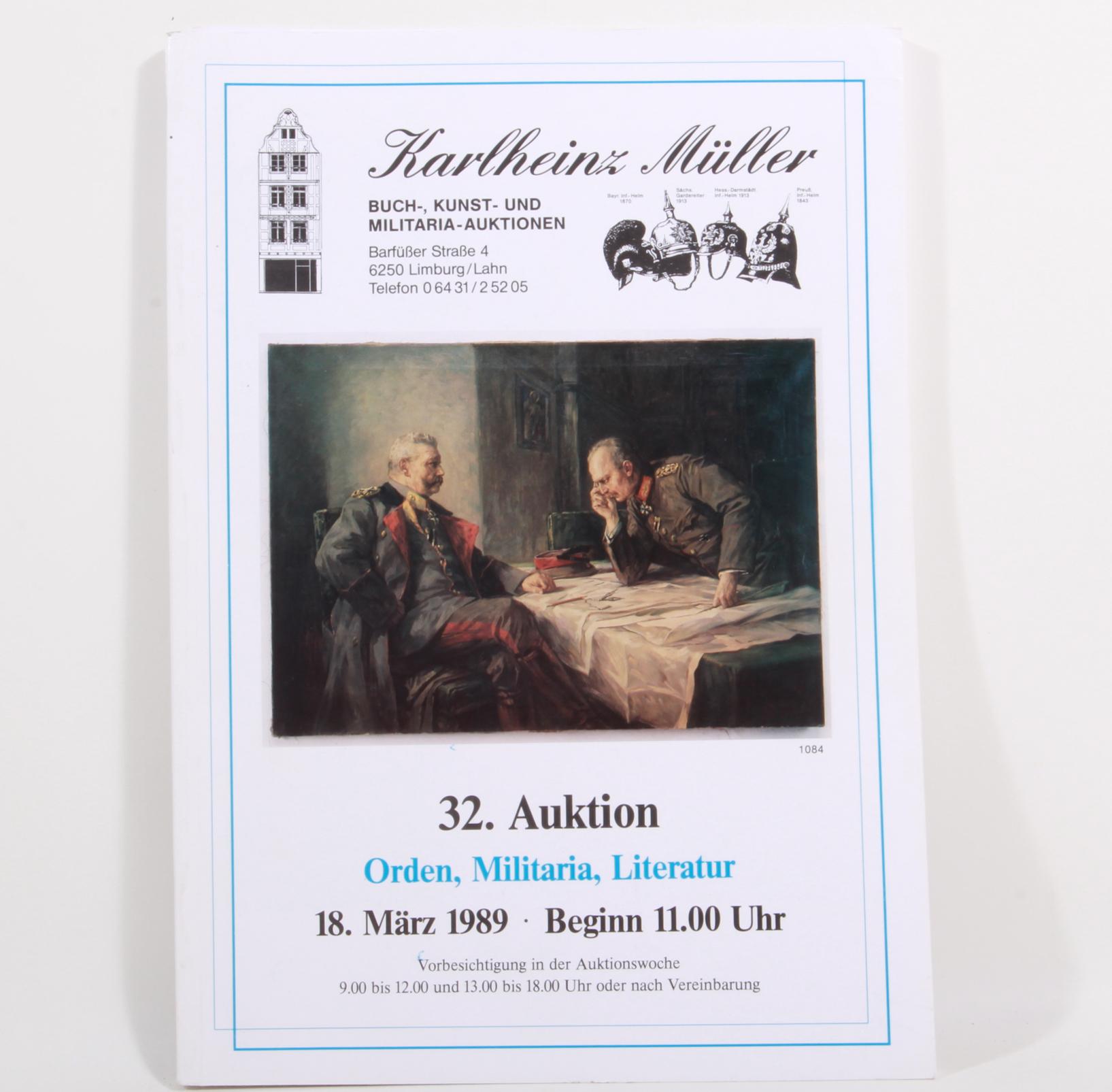 Auktionskatalog Karlheinz Müller 32.Auktion
