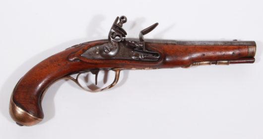 13490 - Steinschlossoffizierspistole  ca. 1790