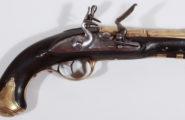 Steinschloss Marineoffizierspistole wohl deutsch um 1750