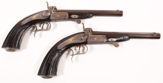 15175 - Paar Luxus Zündstift Pistolen Barella, Berlin
