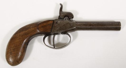 14227 - Perkussionstaschenpistole deutsch Ende 19.Jh