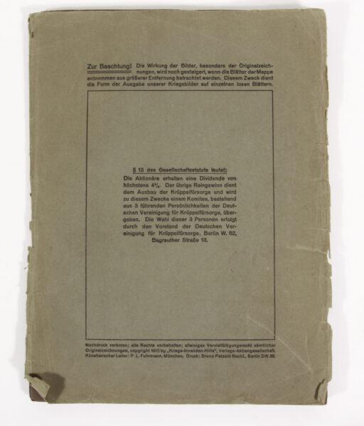 14070 - Loseblatt-Sammlung der Deutschen Krüppelfürsorge 1915