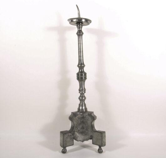 16012 - Großer Zinnleuchter deutsch um 1800