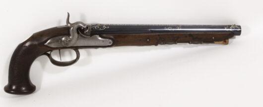 13664 - Perkussionspistole Kuchenreuter um 1800
