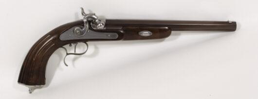 16051 - Perkussionspistole Replika im französischen Stile um 1850