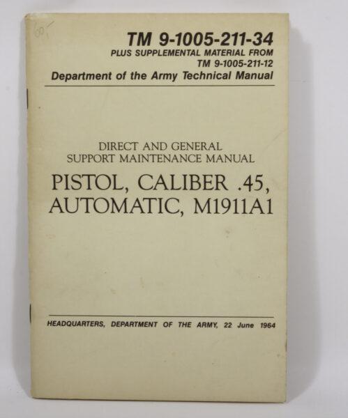 16725 - Handbuch: Pistol, Caliber .45, Automatic, M1911A1
