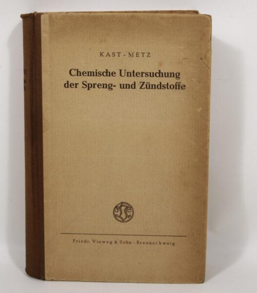 16726 - Chemische Untersuchung der Spreng- und Zündstoffe