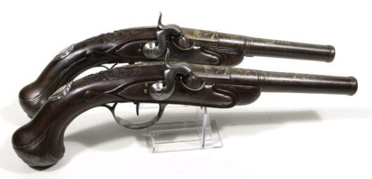 14801 - Paar Perkussionsluxus Pistolen Frankreich um 1740
