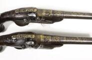 Paar Perkussionsluxus Pistolen Frankreich um 1740
