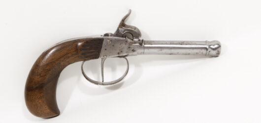 16838 - Perkussionstaschenpistole deutsch ca. 1860