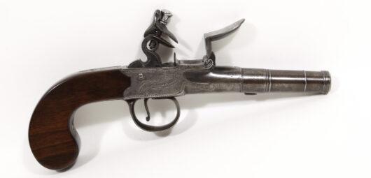 16842 - Steinschlosstaschenpistole England um 1780